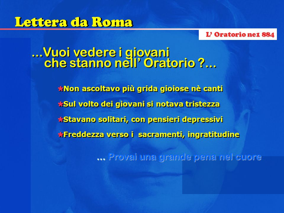 Lettera da Roma ...Vuoi vedere i giovani