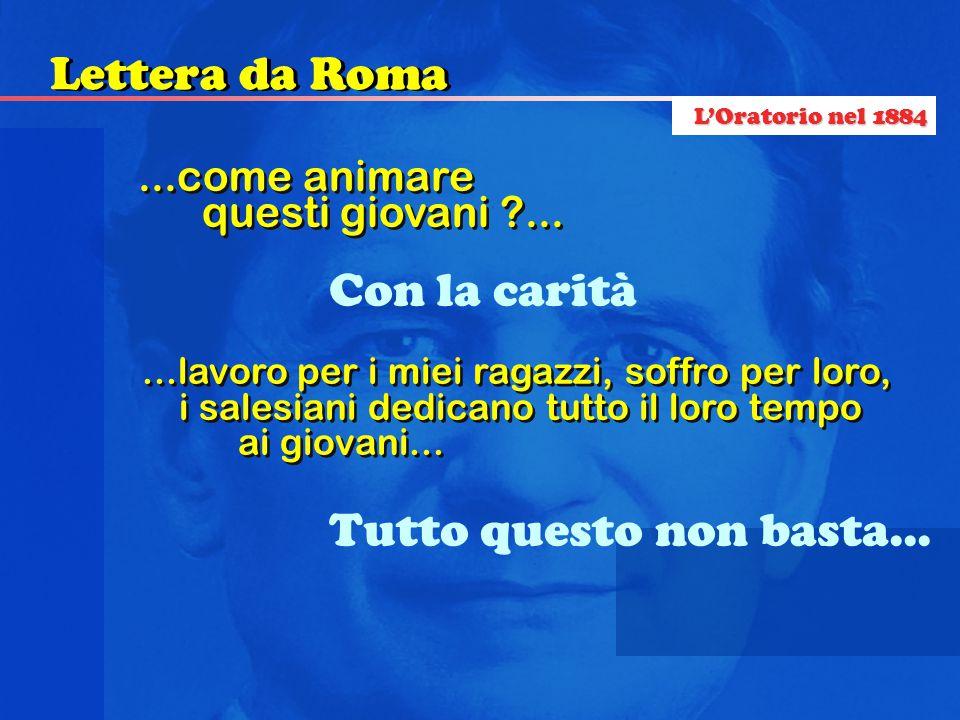 Lettera da Roma Con la carità Tutto questo non basta...
