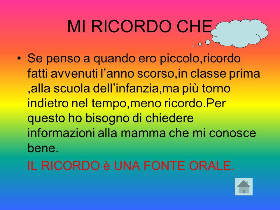 MI RICORDO CHE