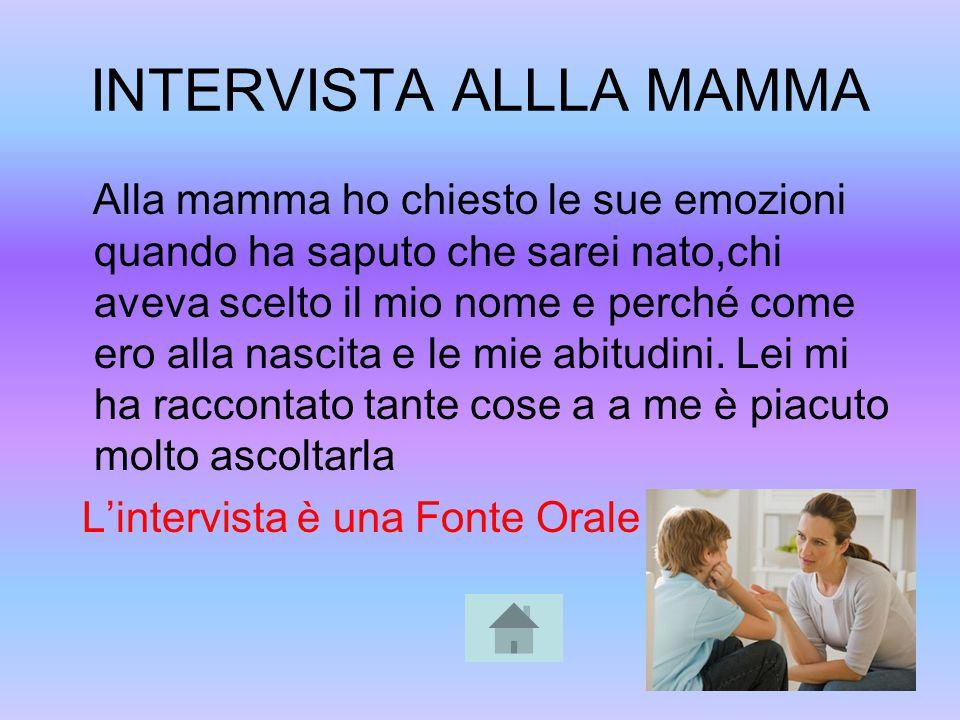INTERVISTA ALLLA MAMMA