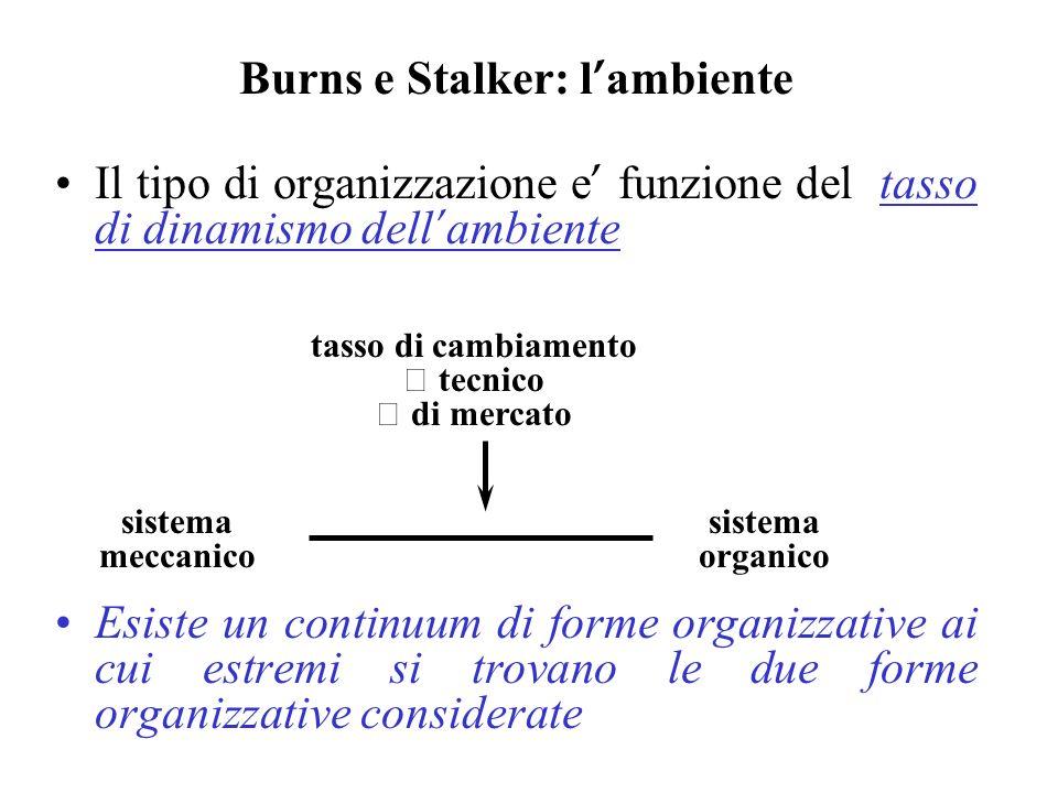 Burns e Stalker: l'ambiente