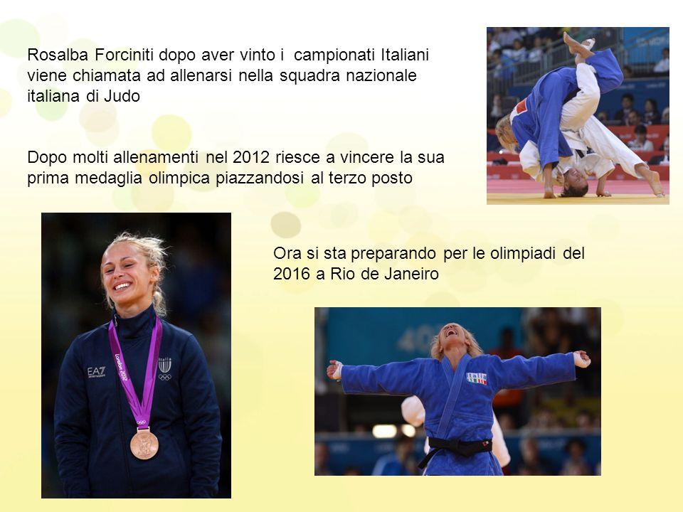 Rosalba Forciniti dopo aver vinto i campionati Italiani viene chiamata ad allenarsi nella squadra nazionale italiana di Judo