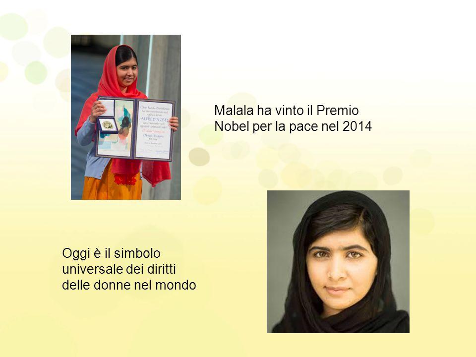 Malala ha vinto il Premio Nobel per la pace nel 2014