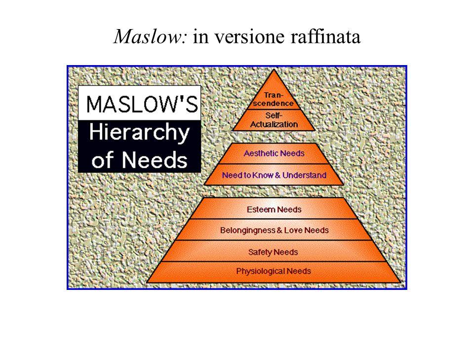 Maslow: in versione raffinata