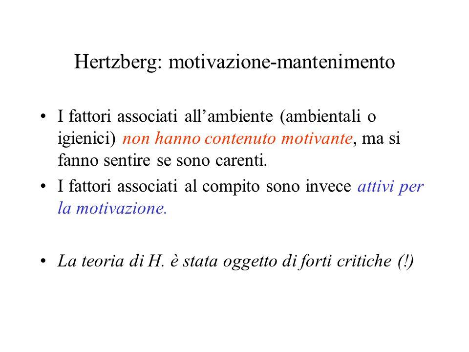Hertzberg: motivazione-mantenimento