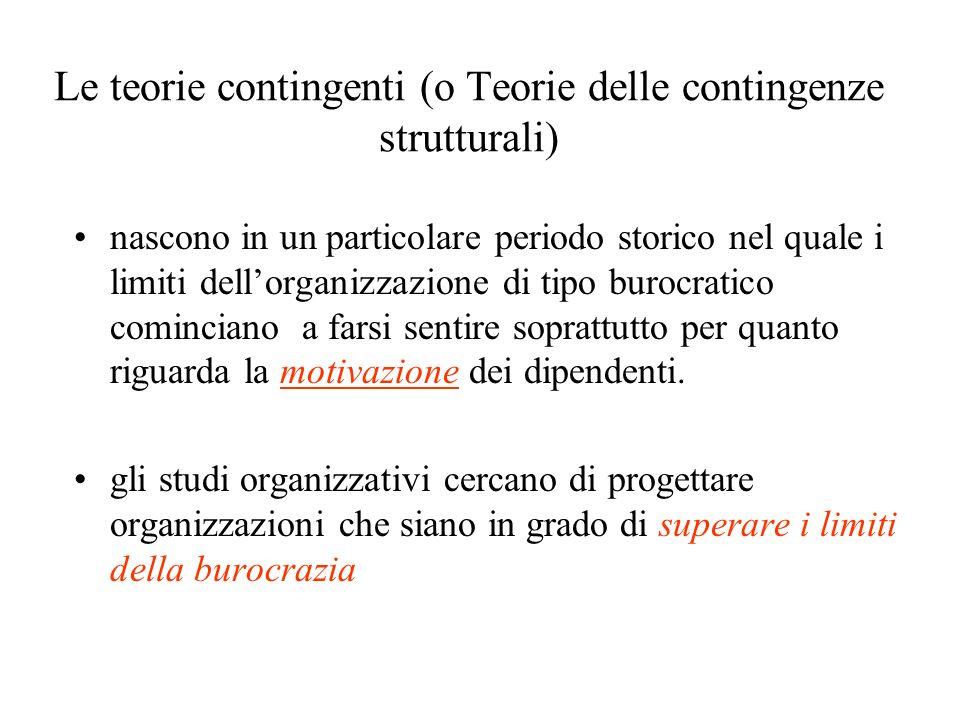Le teorie contingenti (o Teorie delle contingenze strutturali)