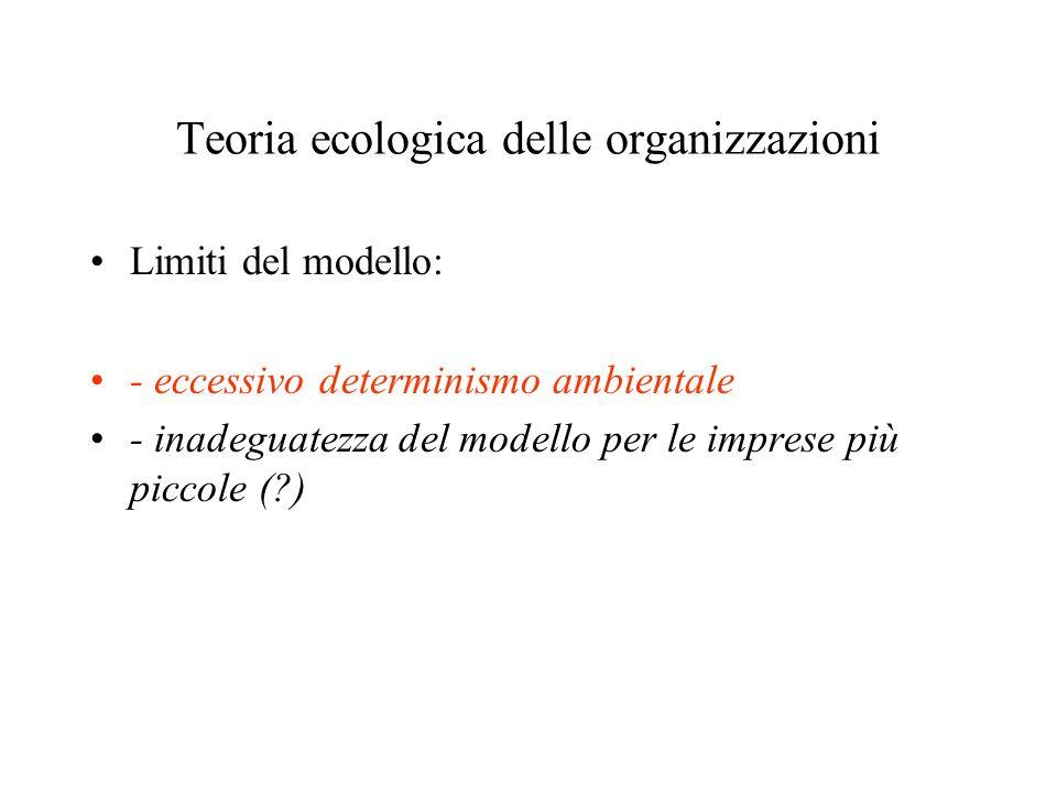Teoria ecologica delle organizzazioni