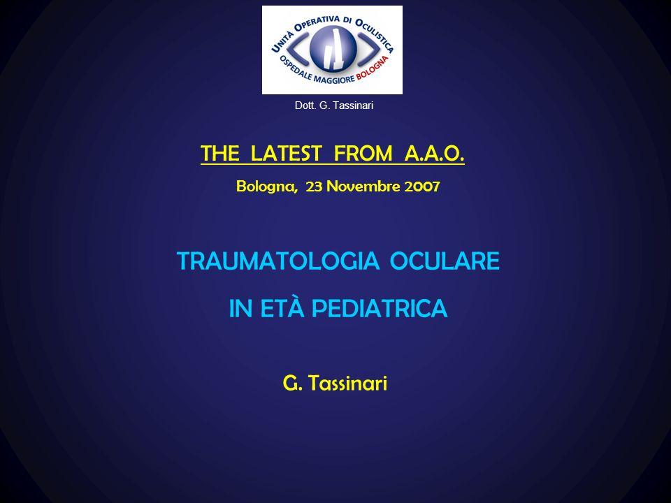 TRAUMATOLOGIA OCULARE