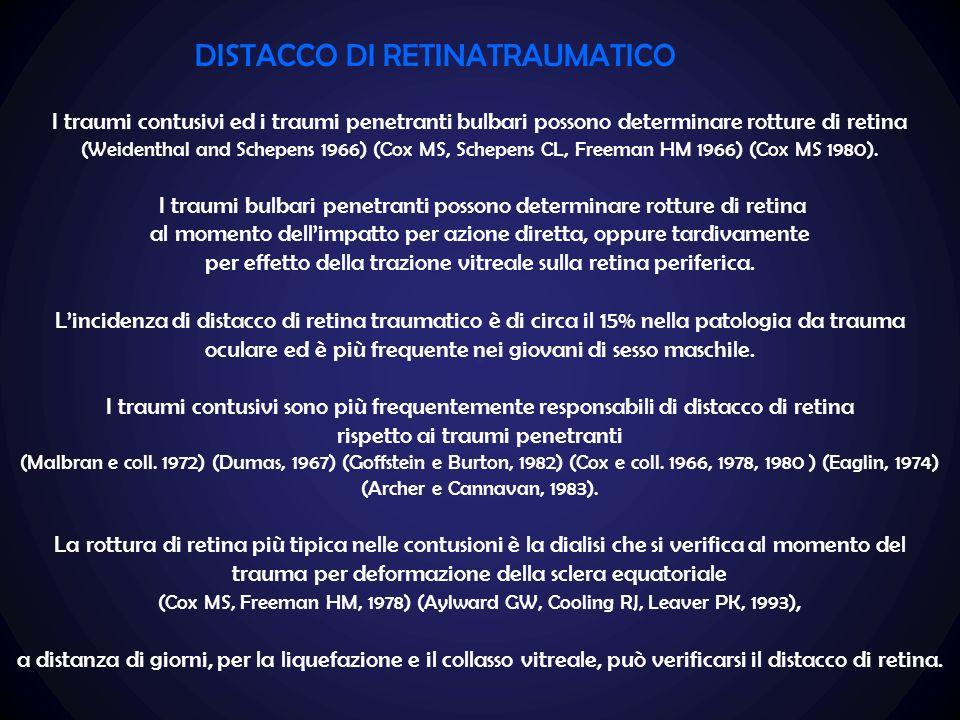 DISTACCO DI RETINATRAUMATICO