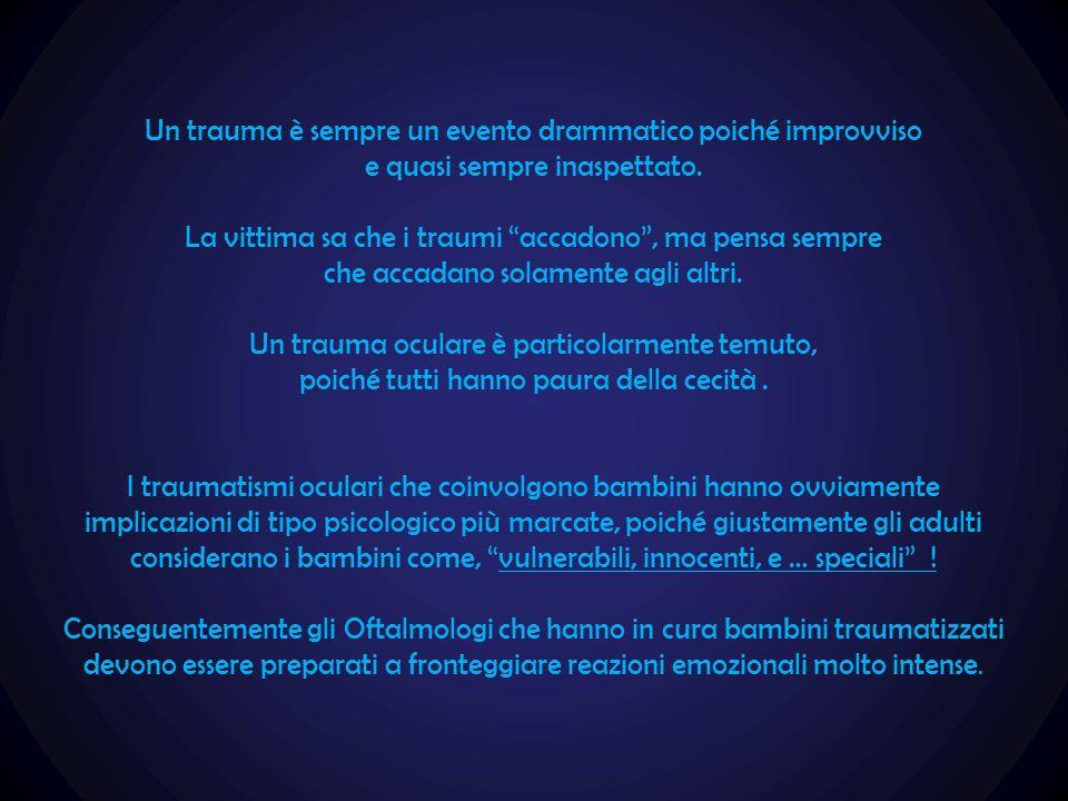 Un trauma è sempre un evento drammatico poiché improvviso
