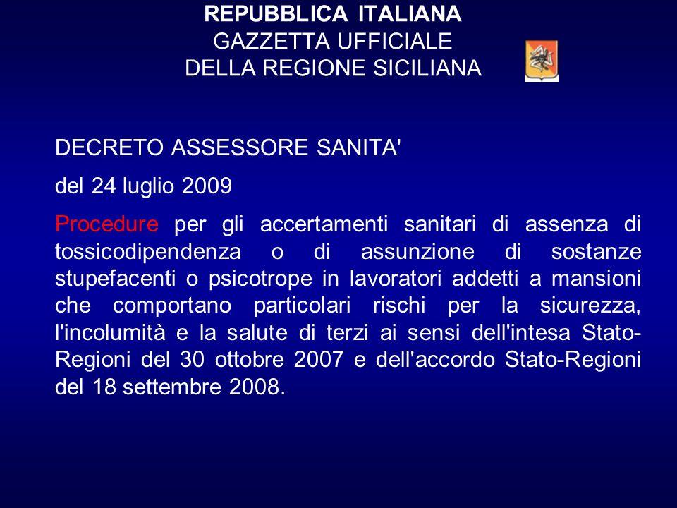REPUBBLICA ITALIANA GAZZETTA UFFICIALE DELLA REGIONE SICILIANA