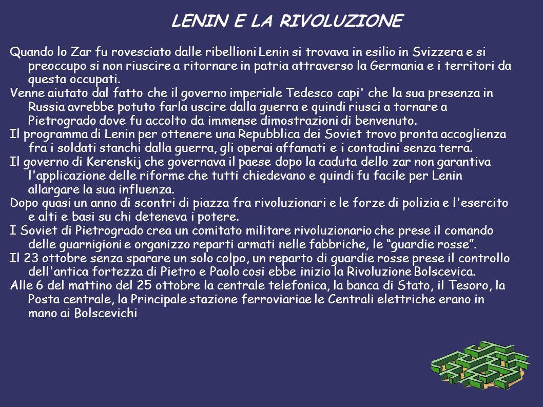 LENIN E LA RIVOLUZIONE