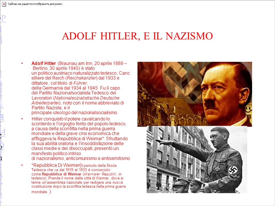 ADOLF HITLER, E IL NAZISMO