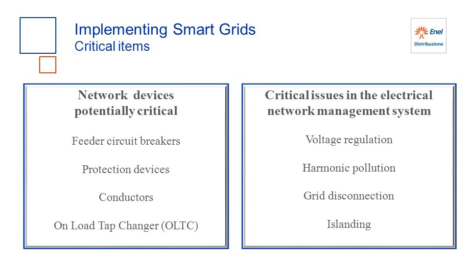 Critical issues in the electrical network management system