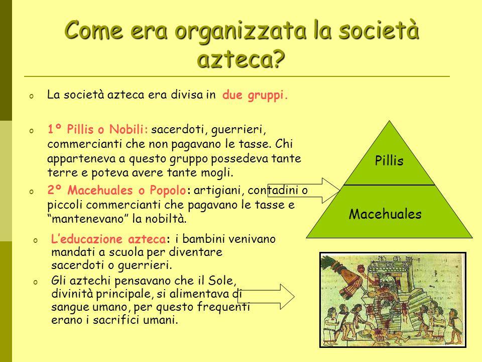 Come era organizzata la società azteca