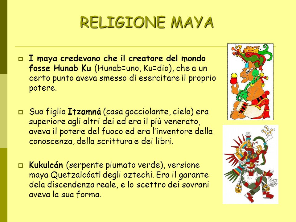 RELIGIONE MAYA