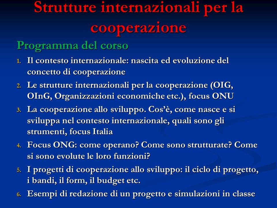 Strutture internazionali per la cooperazione