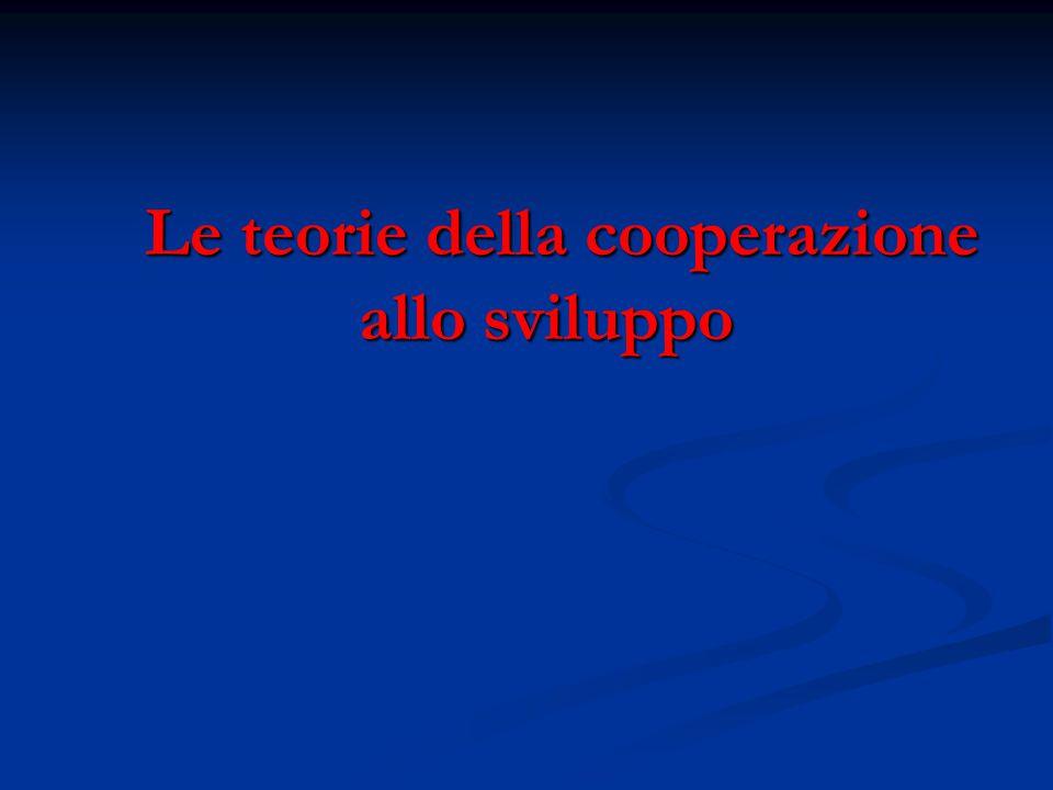 Le teorie della cooperazione allo sviluppo