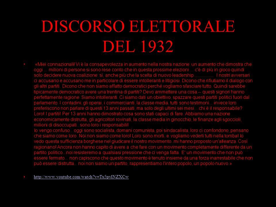 DISCORSO ELETTORALE DEL 1932