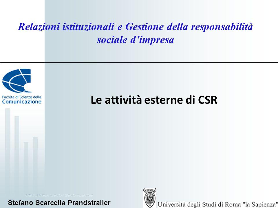Le attività esterne di CSR
