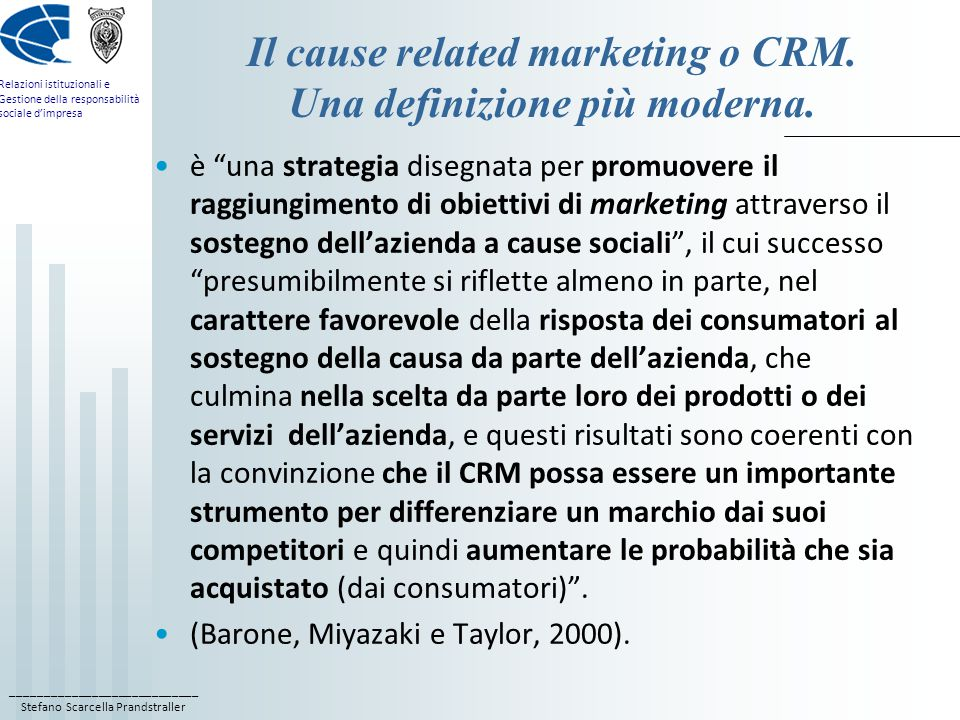 Il cause related marketing o CRM. Una definizione più moderna.