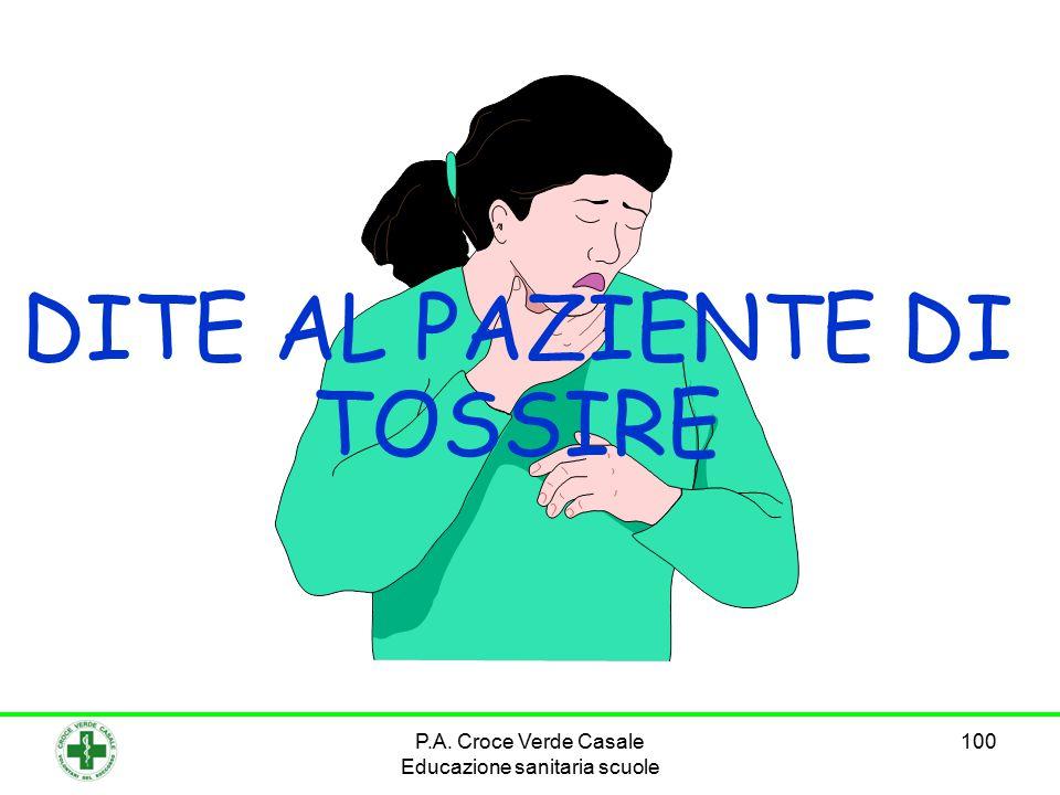 DITE AL PAZIENTE DI TOSSIRE