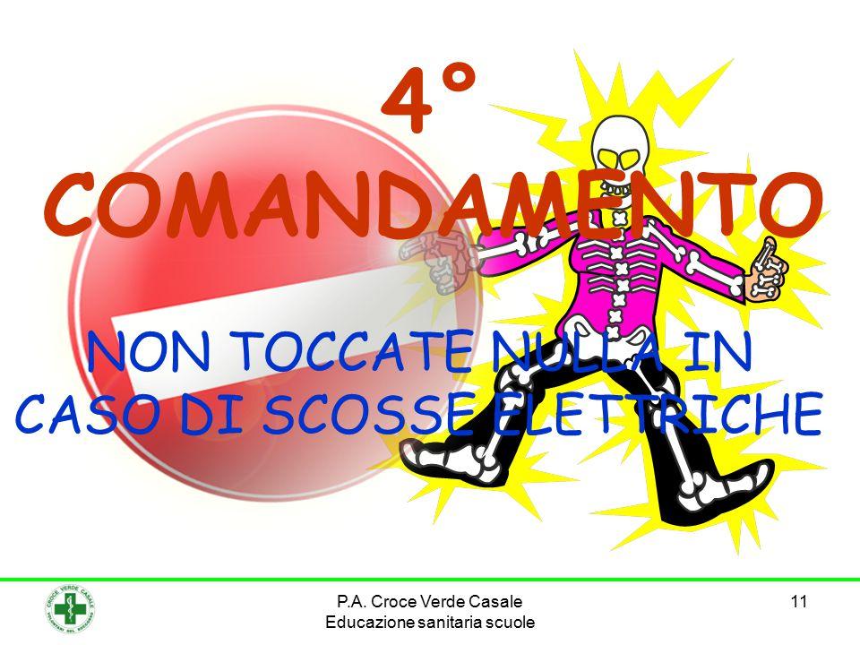 NON TOCCATE NULLA IN CASO DI SCOSSE ELETTRICHE