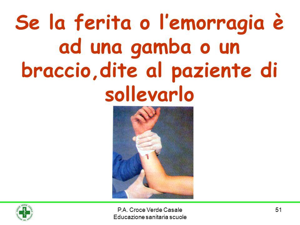 P.A. Croce Verde Casale Educazione sanitaria scuole