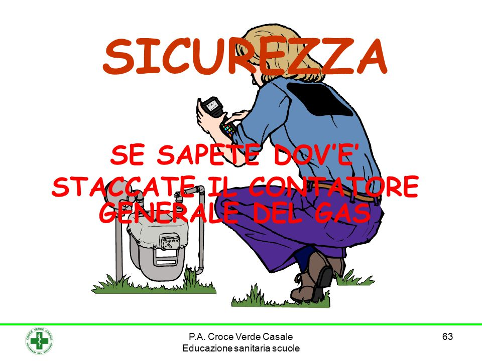 SE SAPETE DOV'E' STACCATE IL CONTATORE GENERALE DEL GAS