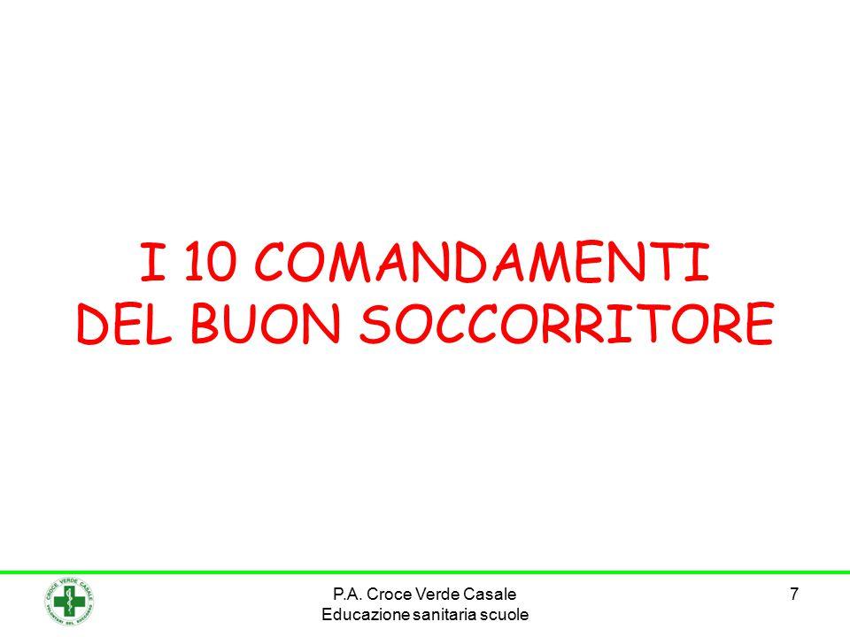 I 10 COMANDAMENTI DEL BUON SOCCORRITORE