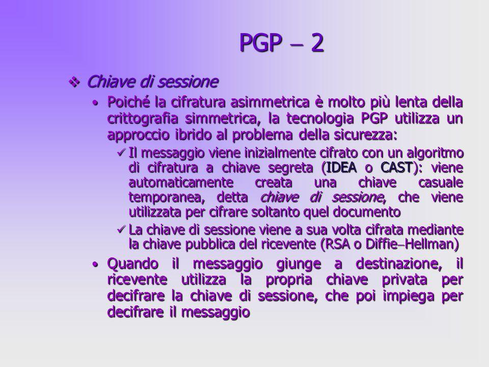 PGP  2 Chiave di sessione