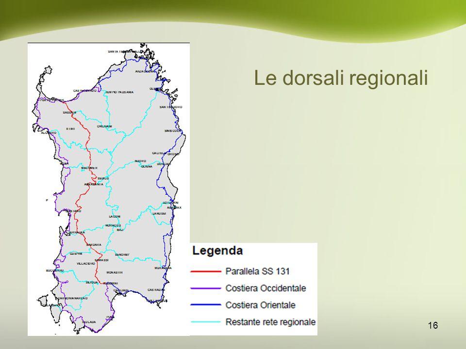 Le dorsali regionali