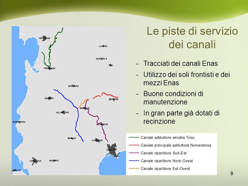 Le piste di servizio dei canali