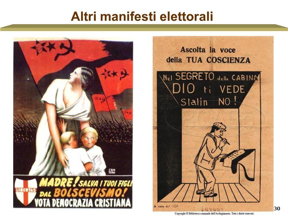 Altri manifesti elettorali
