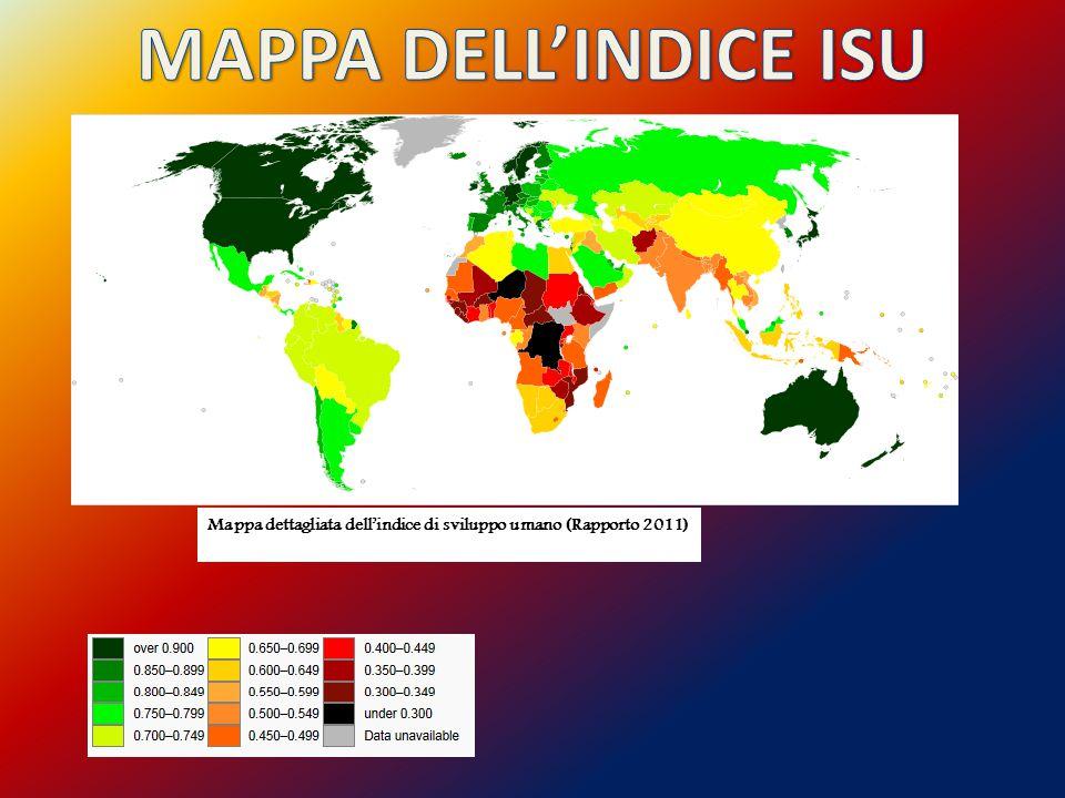 MAPPA DELL'INDICE ISU Mappa dettagliata dell'indice di sviluppo umano (Rapporto 2011)