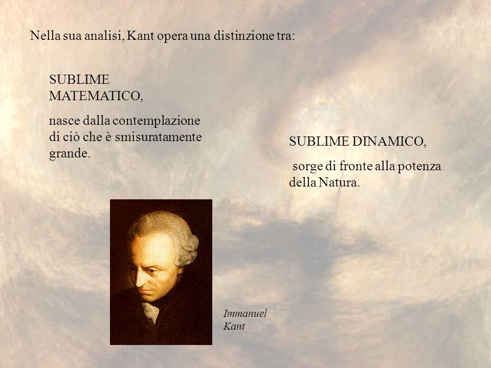 Nella sua analisi, Kant opera una distinzione tra: