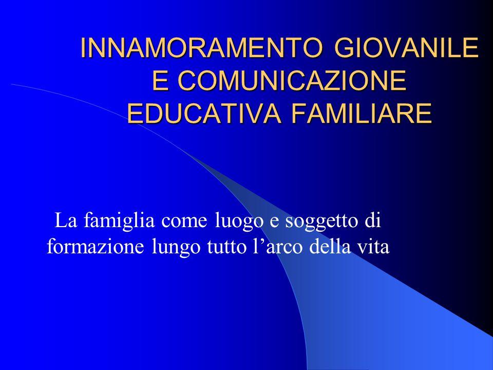INNAMORAMENTO GIOVANILE E COMUNICAZIONE EDUCATIVA FAMILIARE