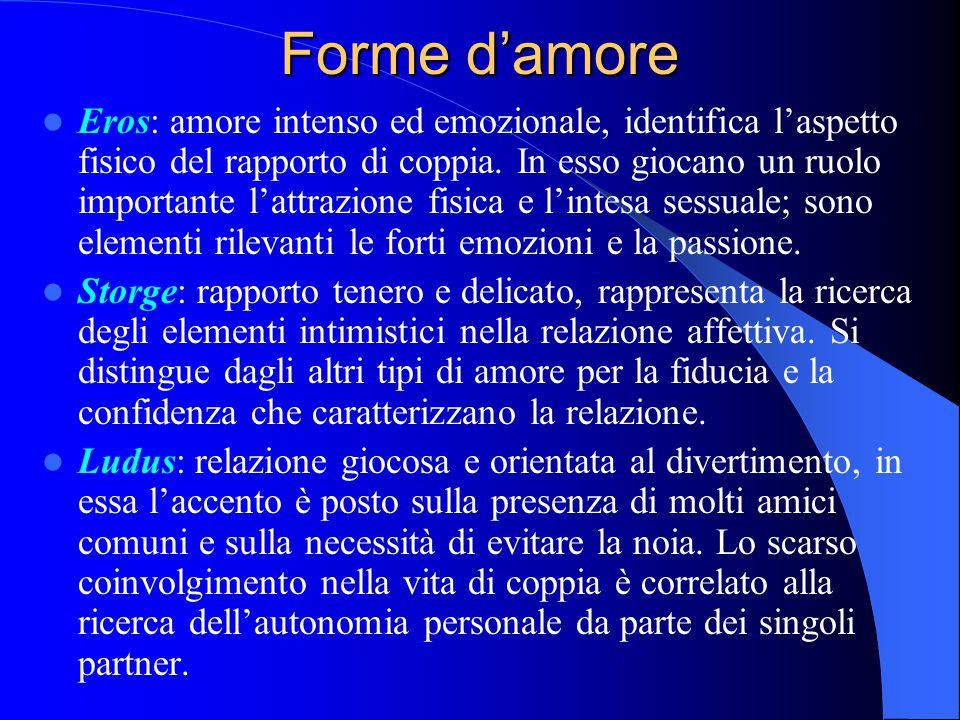 Forme d'amore