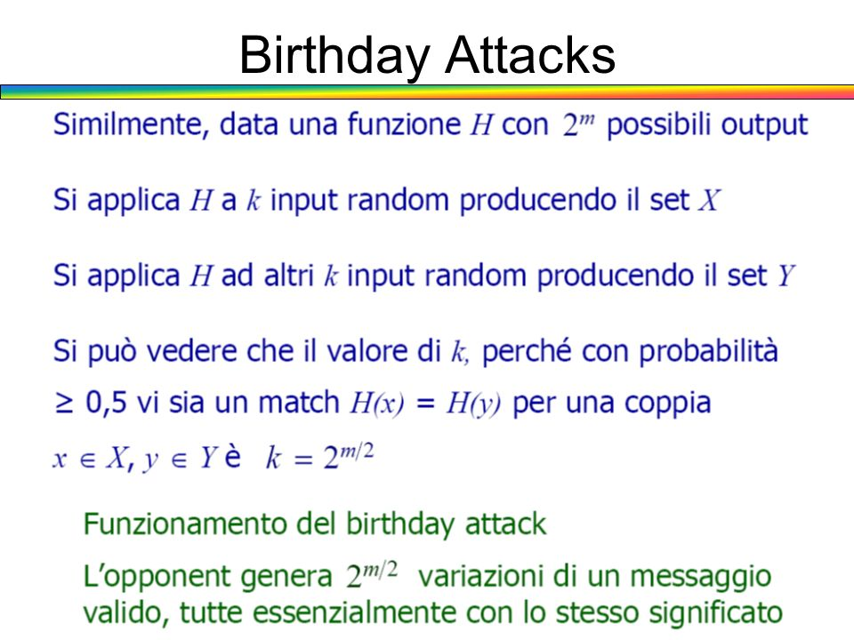 Birthday Attacks