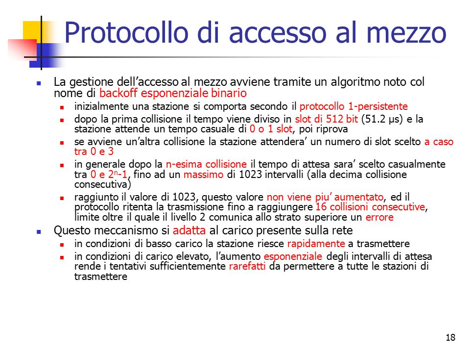 Protocollo di accesso al mezzo