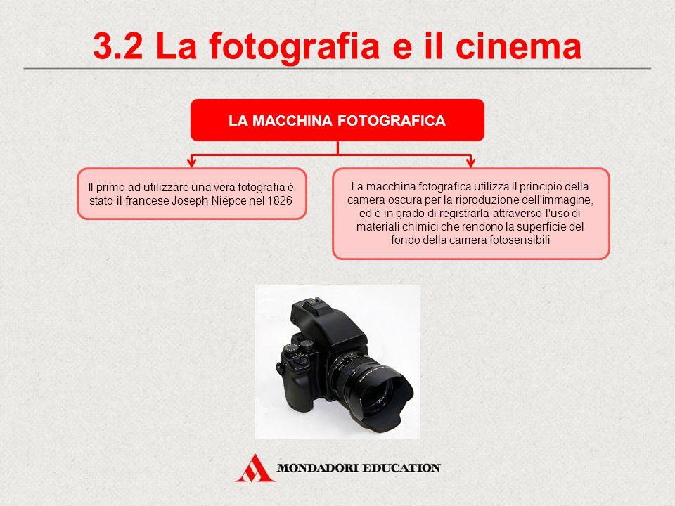 3.2 La fotografia e il cinema LA MACCHINA FOTOGRAFICA
