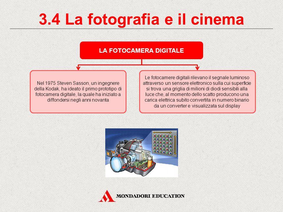 3.4 La fotografia e il cinema LA FOTOCAMERA DIGITALE
