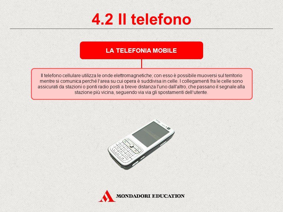 4.2 Il telefono LA TELEFONIA MOBILE *