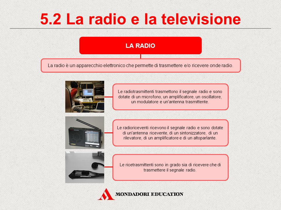 5.2 La radio e la televisione