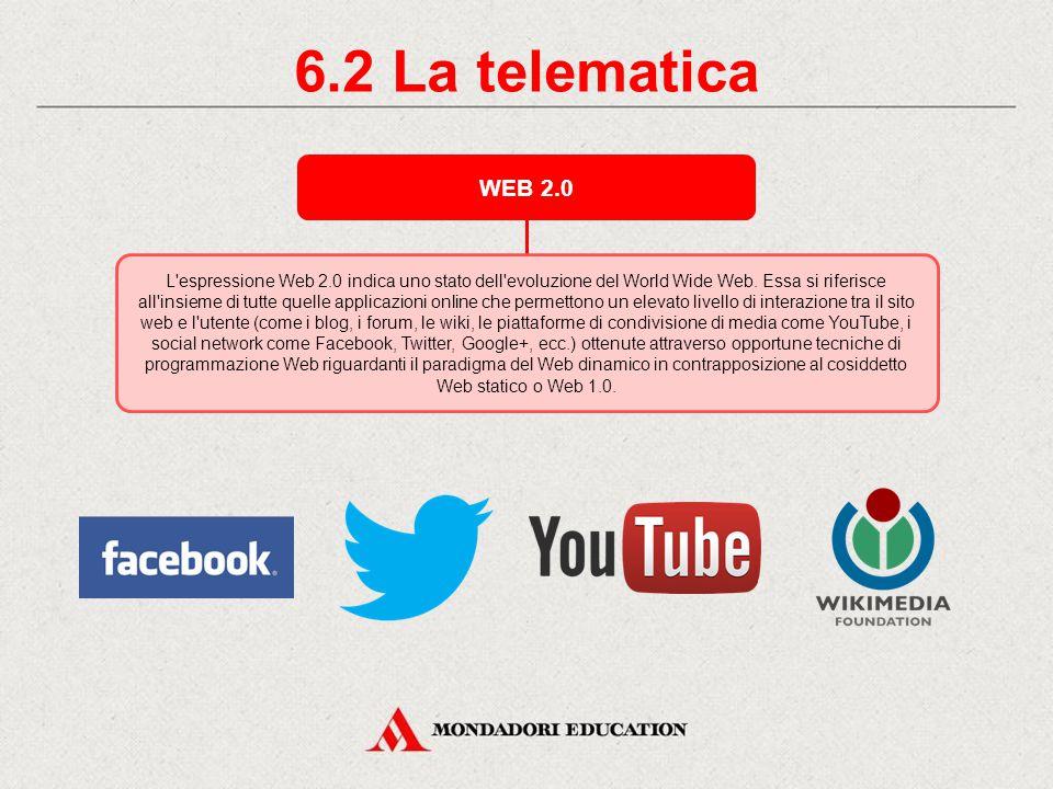 6.2 La telematica WEB 2.0.