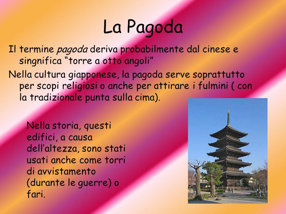 La Pagoda Il termine pagoda deriva probabilmente dal cinese e singnifica torre a otto angoli