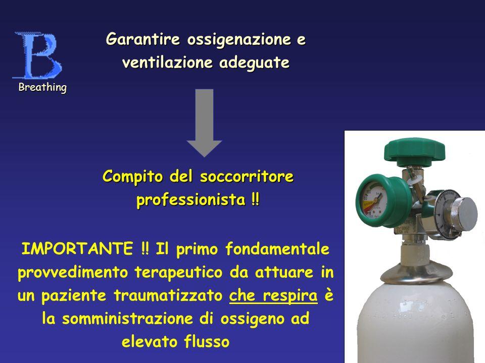 Garantire ossigenazione e ventilazione adeguate