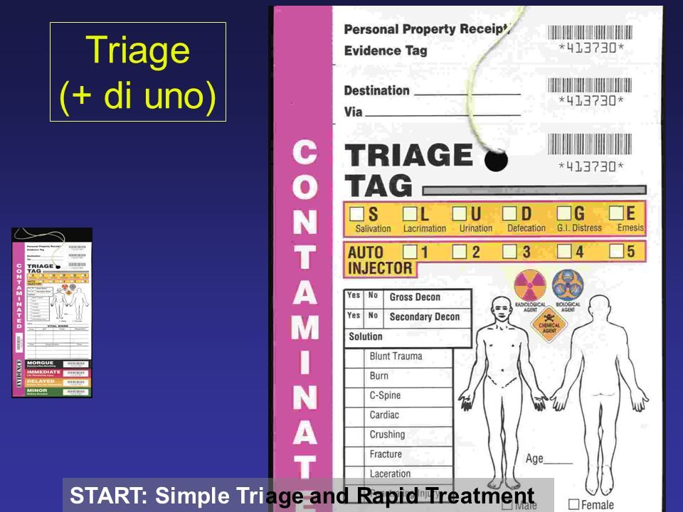 Triage (+ di uno) START: Simple Triage and Rapid Treatment