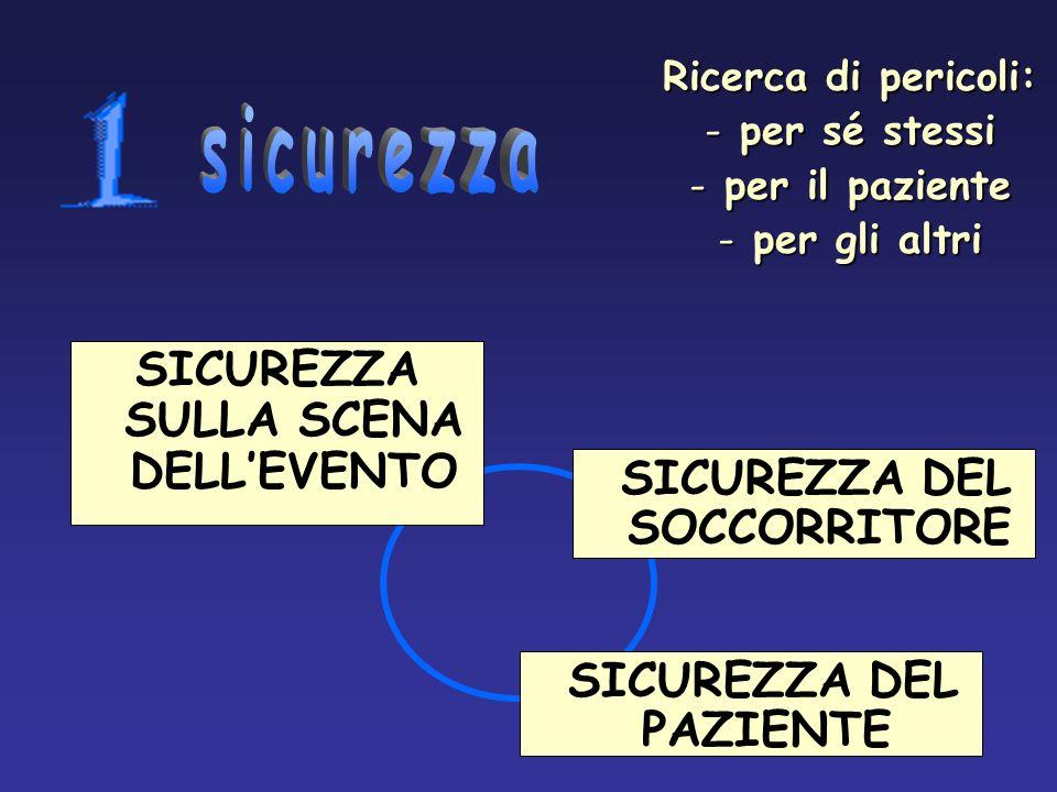 SICUREZZA SULLA SCENA DELL'EVENTO