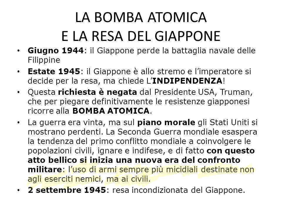 LA BOMBA ATOMICA E LA RESA DEL GIAPPONE